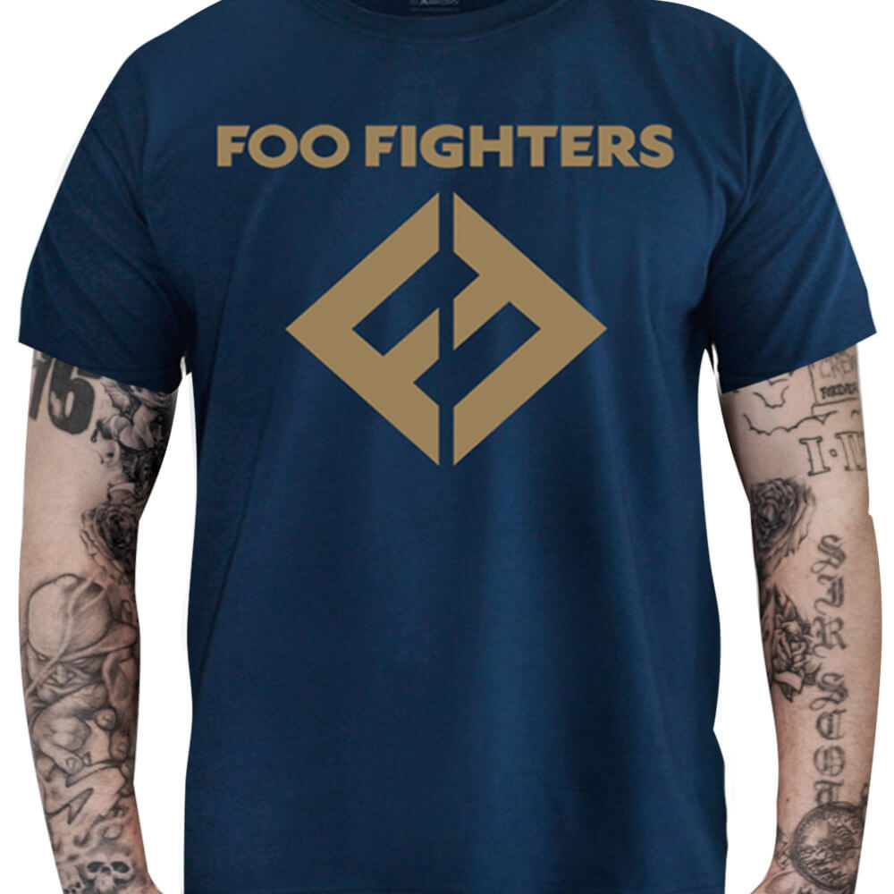Camiseta FOO FIGHTERS - azul