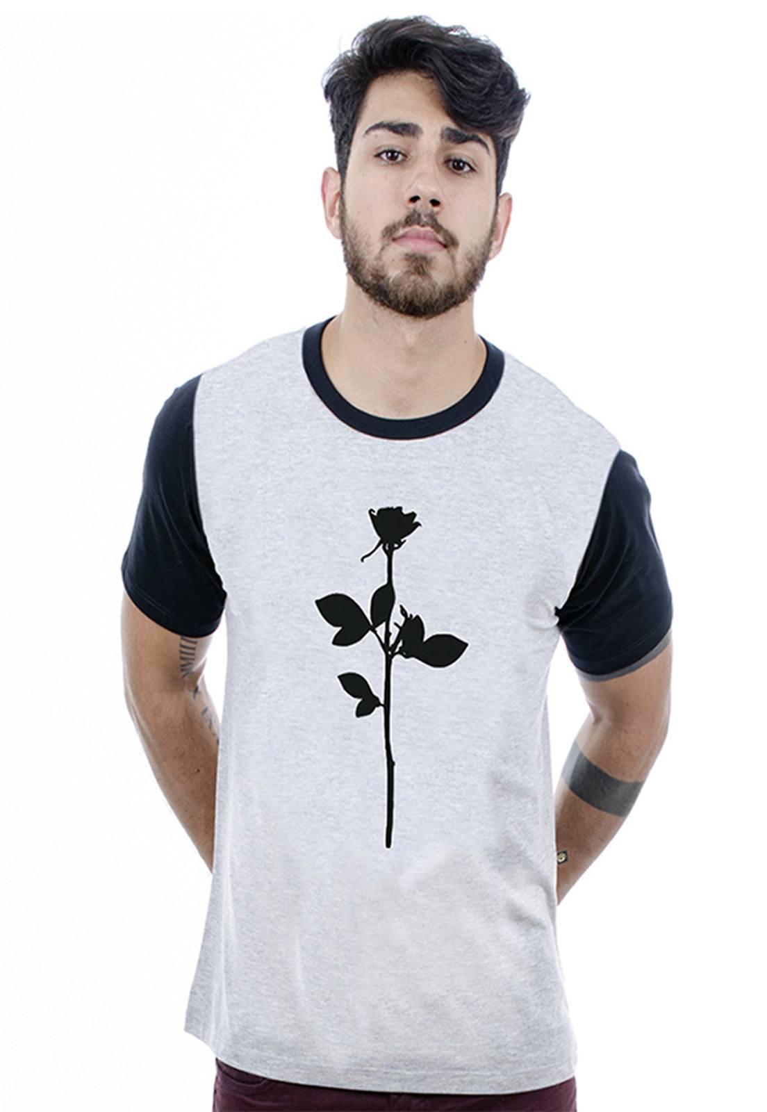 Camiseta masculina cinza mescla Silence - 100% algodão - Hardivision