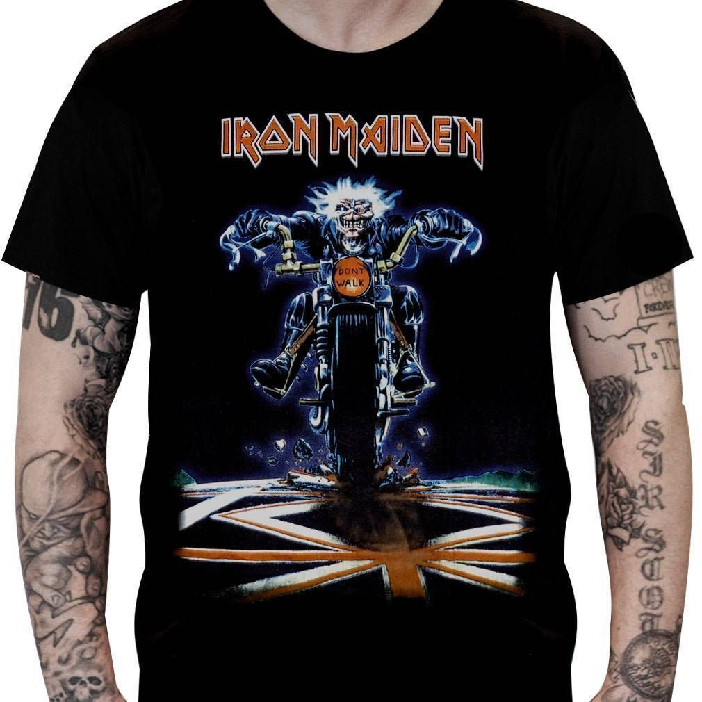 Camiseta Iron Maiden Don't Walk - Stamp