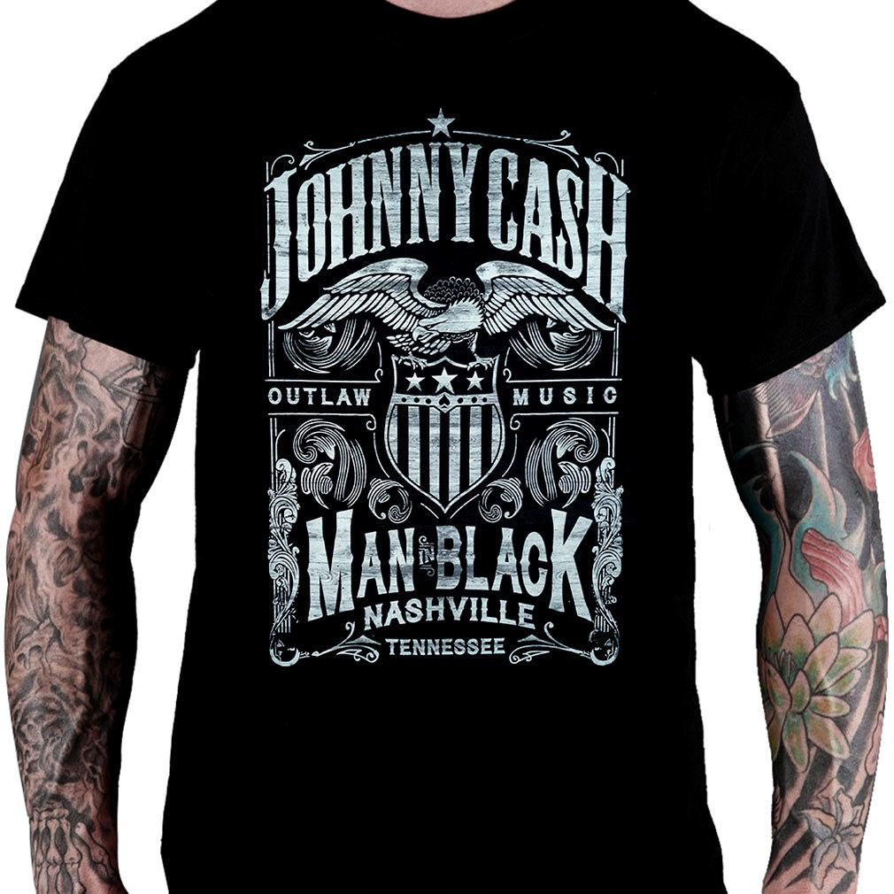 Camiseta JOHNNY CASH – Man in Black