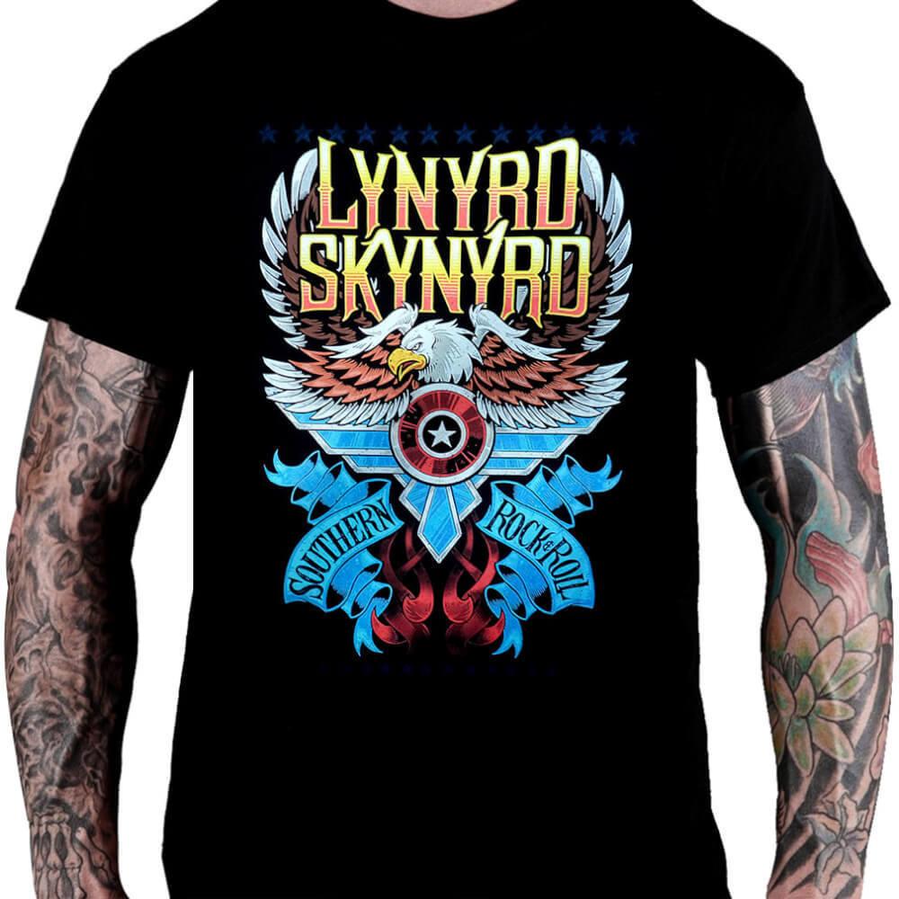 Camiseta Lynyrd Skynyrd Southern Rock'n Roll - Consulado do Rock