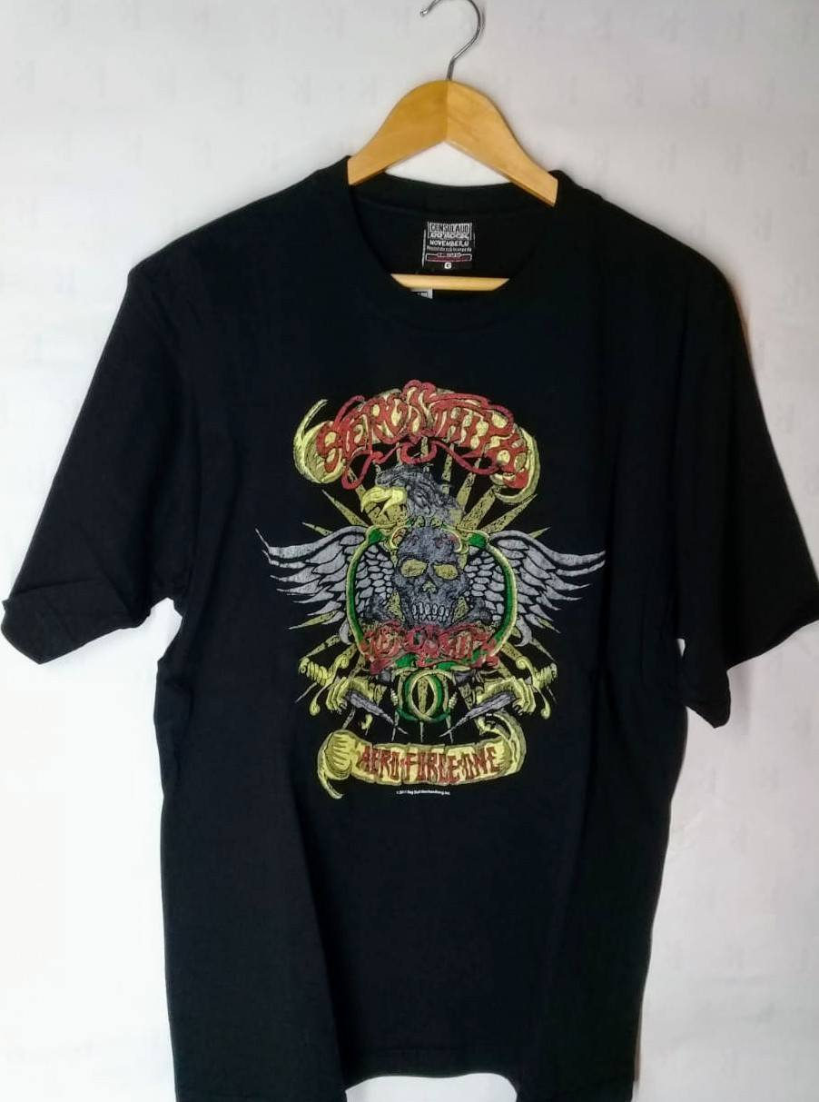 Camiseta Masculina  Aerosmith Aero Force One