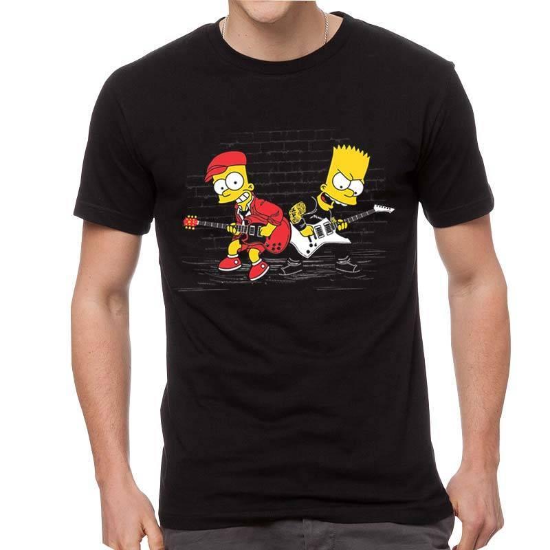 Camiseta masculina Bart Duelo de Guitarras