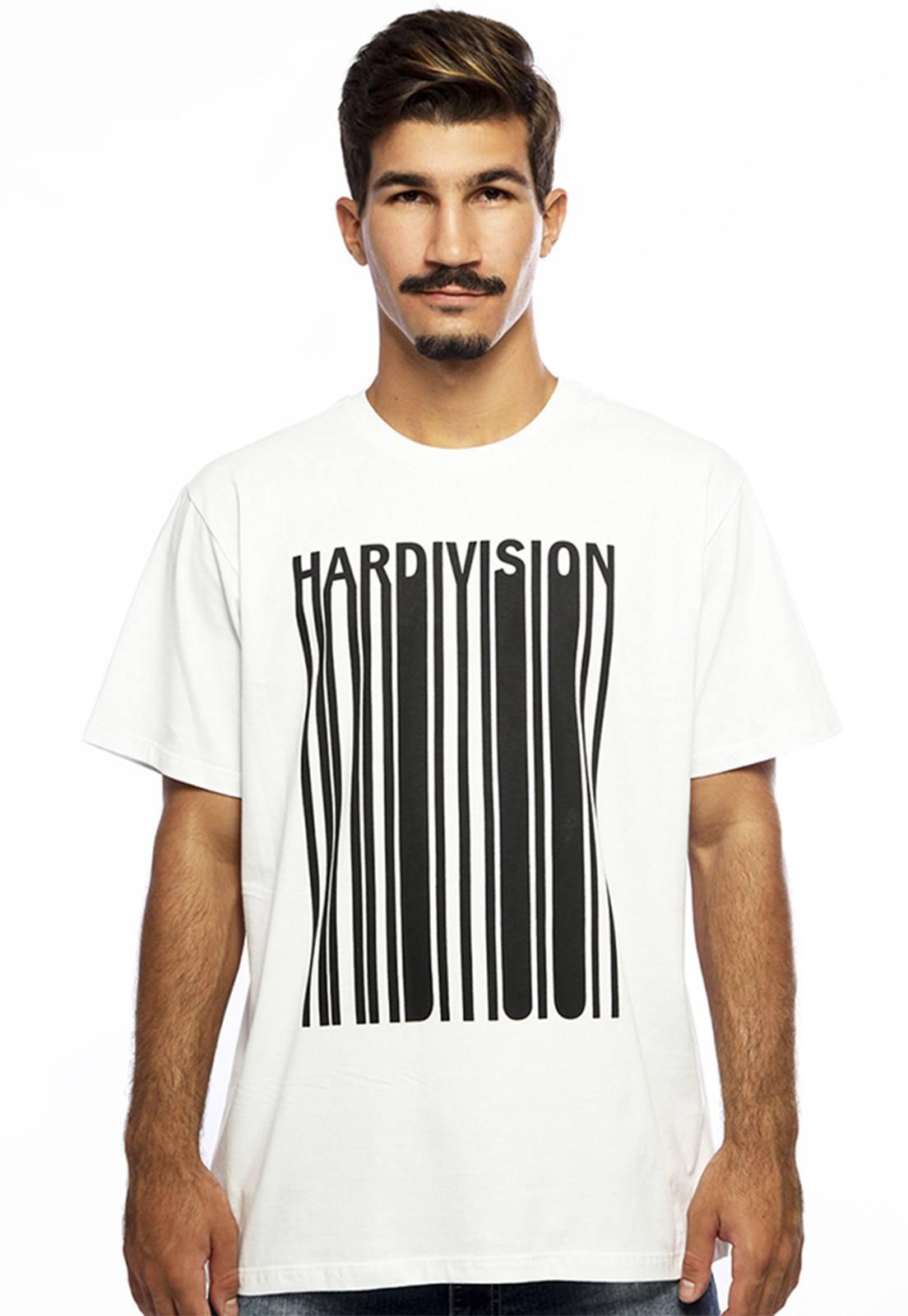 Camiseta masculina branca New Order - 100% algodão - Hardivision