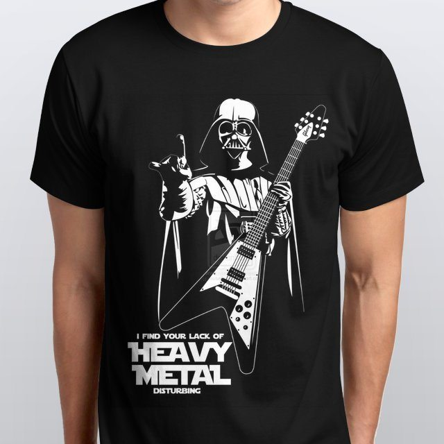 Camiseta Masculina I Find Your Lack Of Heavy Metal Disturbing