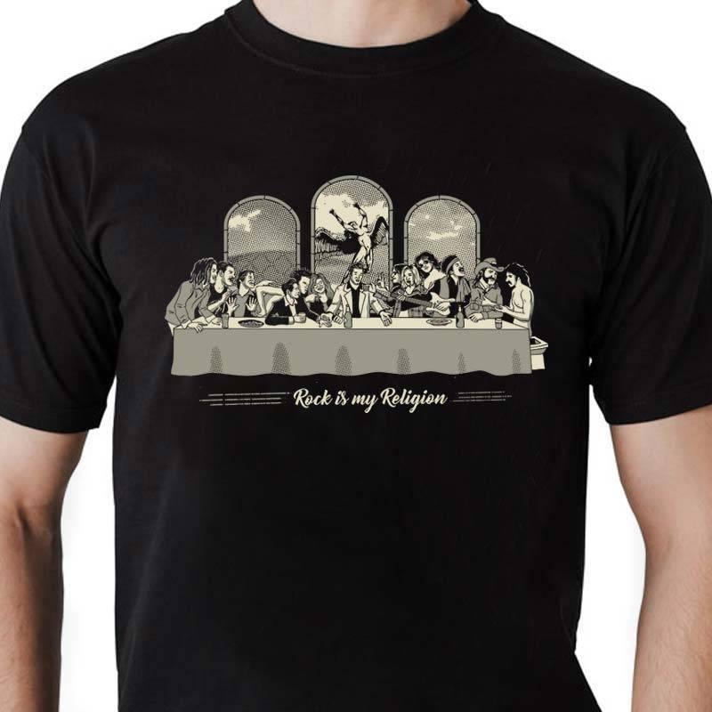Camiseta masculina Rock Is My Religion 2.0