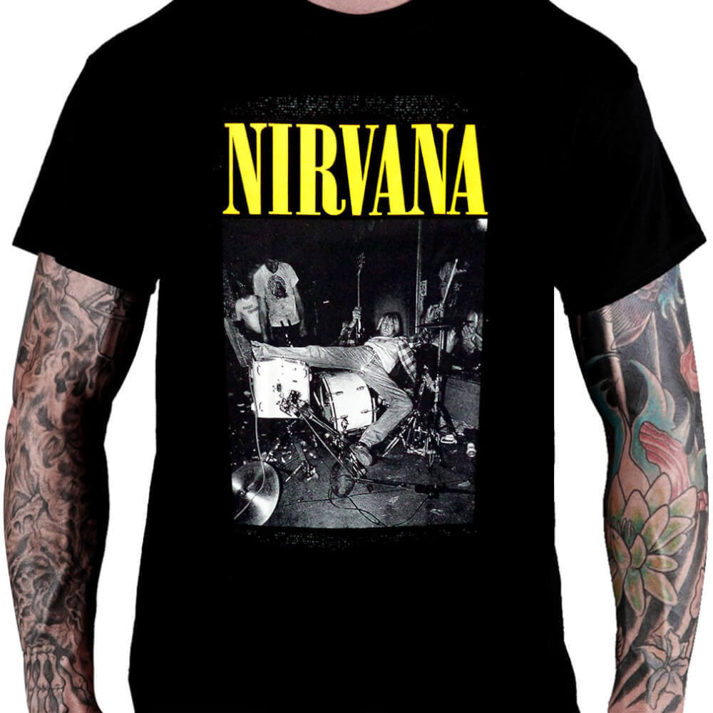 Camiseta Nirvana Kurt Cobain - Consulado do Rock