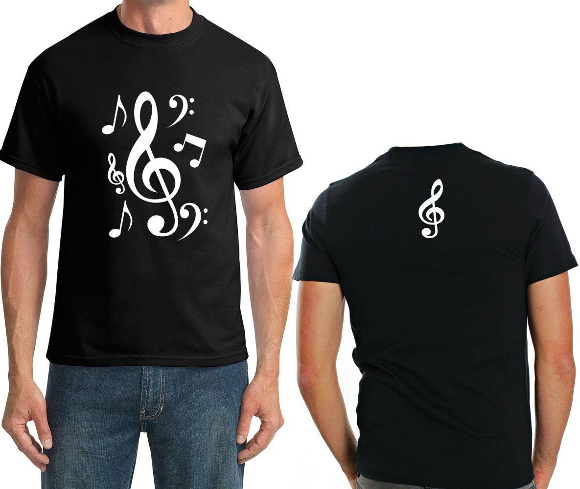Camiseta Notas musicais (Preto)