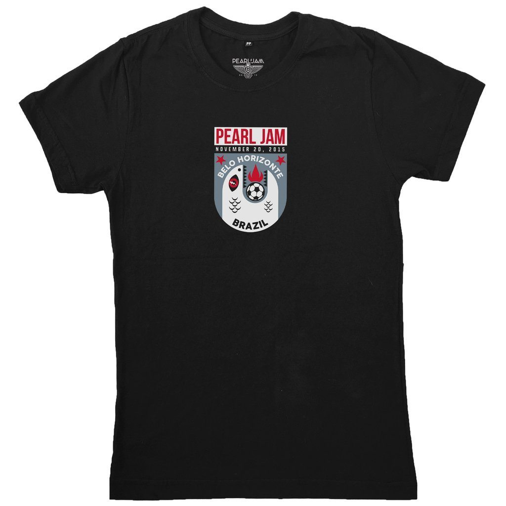 "Camiseta Pearl Jam - ""Event Tee Belo Horizonte 2015"""
