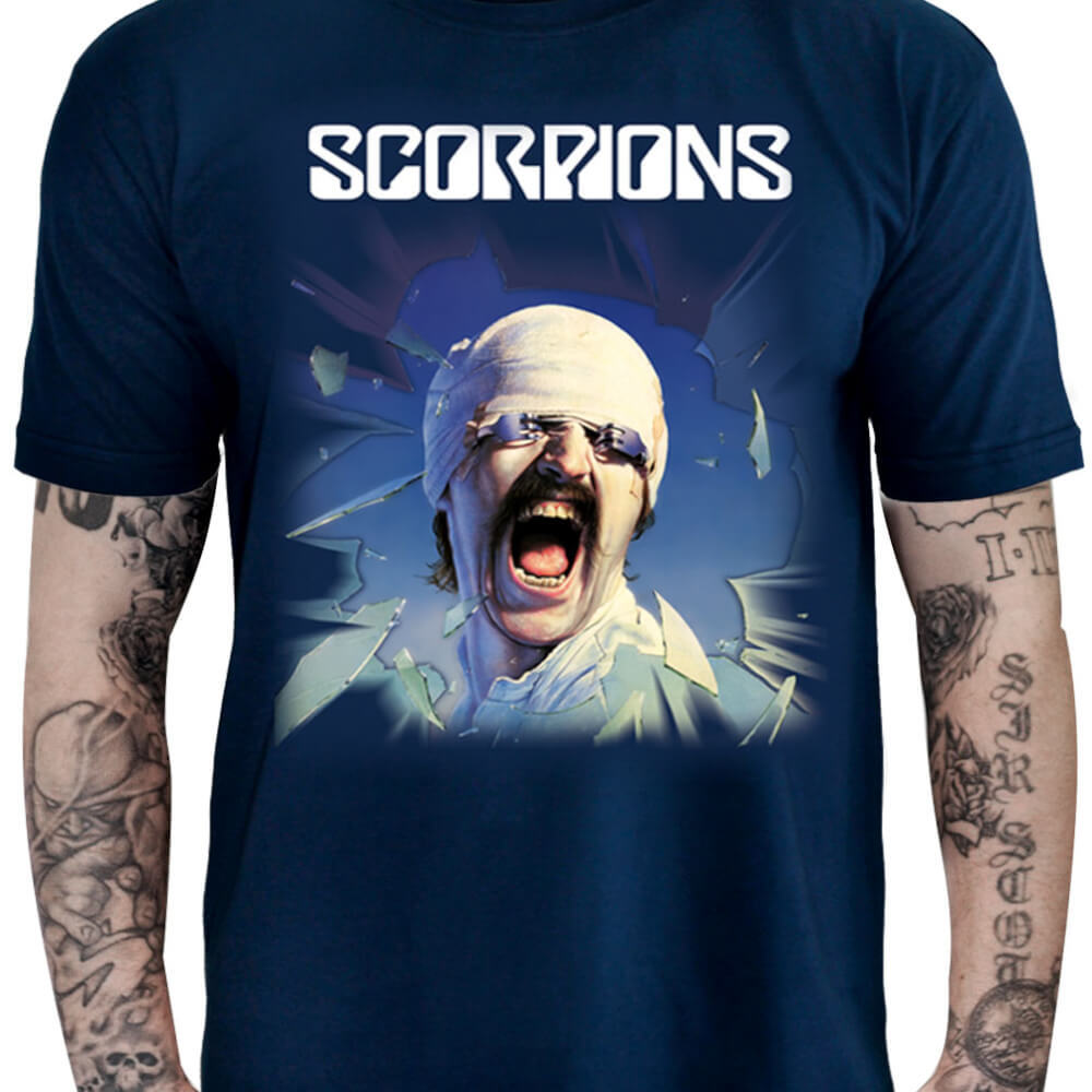 Camiseta Scorpions - Blackout