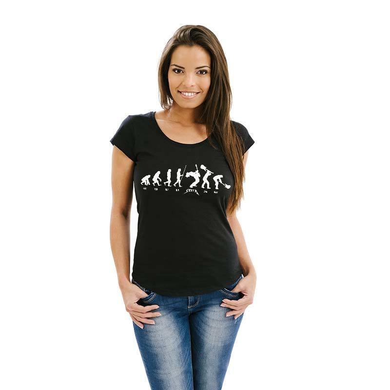 Camiseta feminina Dia da Semana Rock