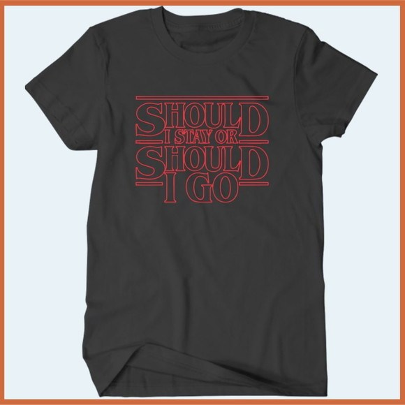 Camiseta Should I Stay Or Should I Go - The Clash - Stranger Things - Camisetas Rápido