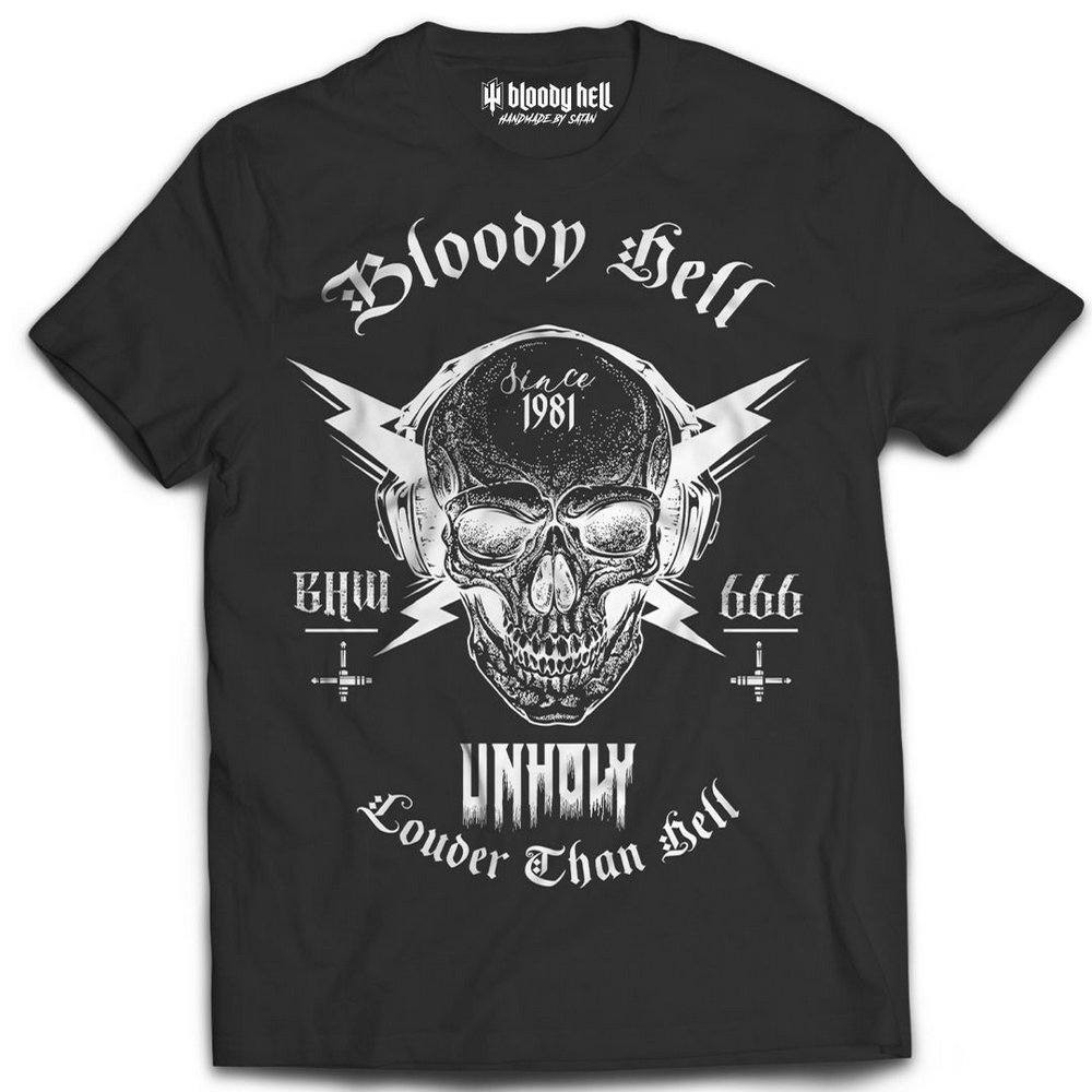 Camiseta Tee Louder Than Hell - Bloody Hell Wear