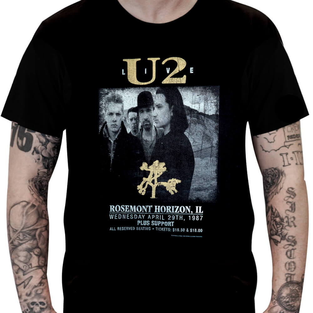 Camiseta U2 - Live - Joshua Tree