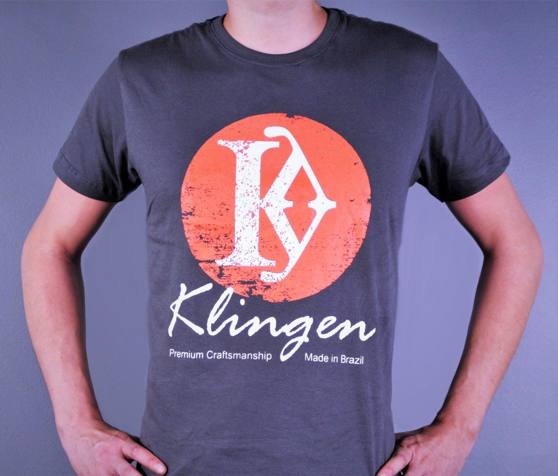 "Camiseta Masculina Klingen ""Sol Nascente Laranja"""