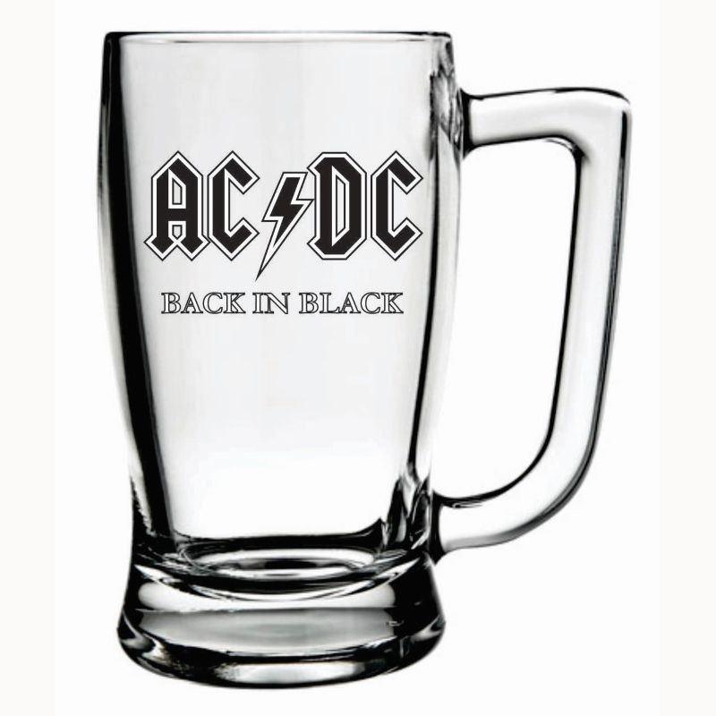 Caneca Cerveja AC/DC Taberna Chopp Beer Rock 340ml