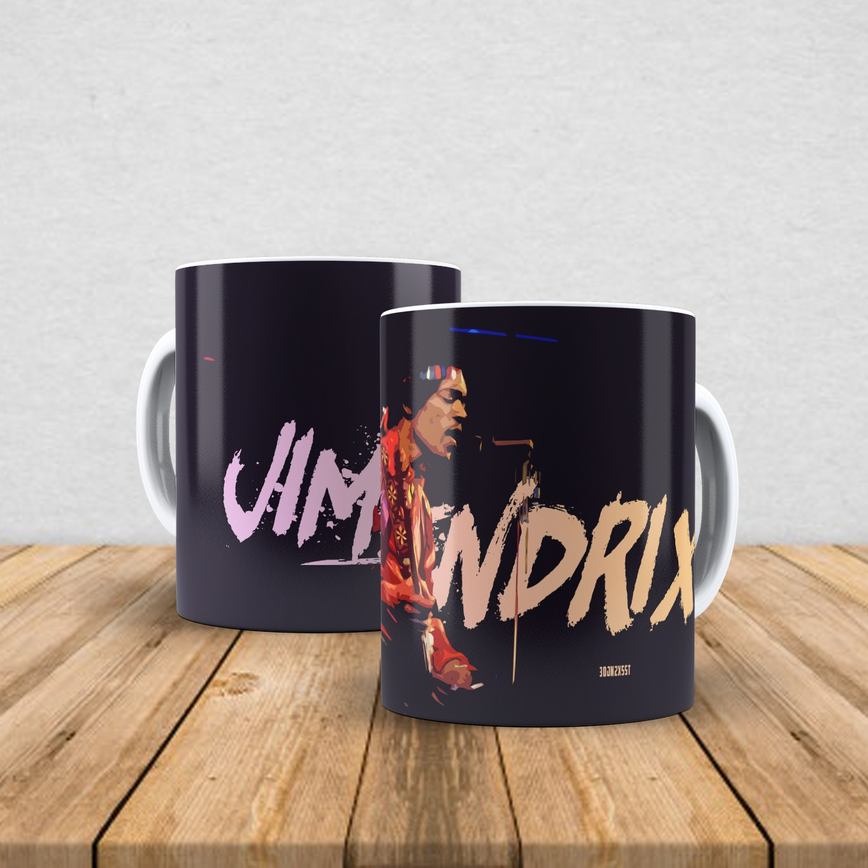 Caneca de porcelana Jimi Hendrix 350ml II