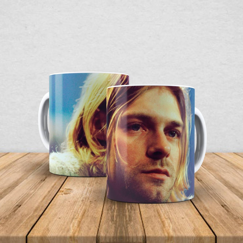 Caneca de porcelana Kurt Cobain 350ml I