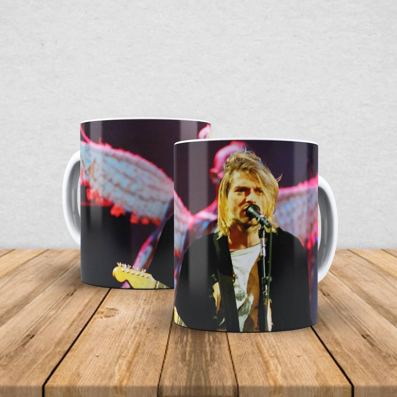 Caneca de porcelana Kurt Cobain 350ml II