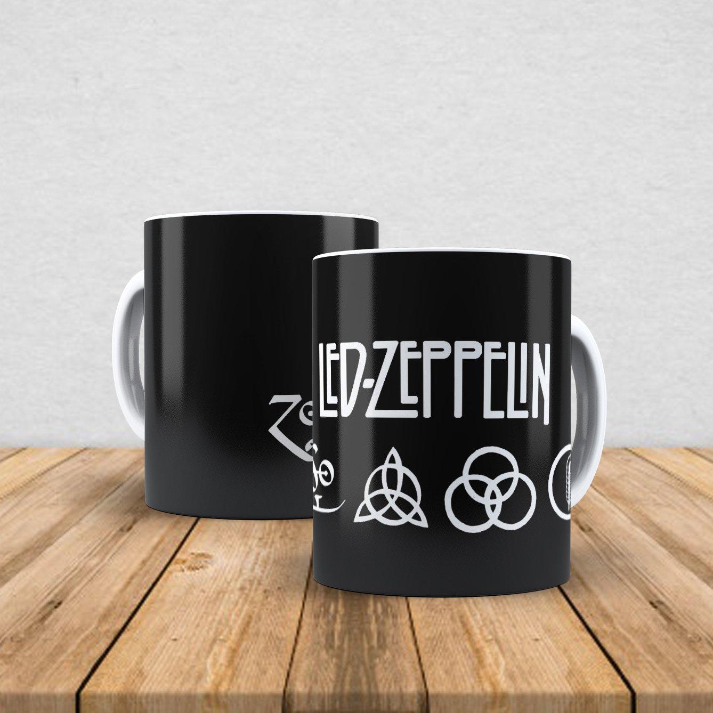 Caneca de porcelana Led Zeppelin 350ml III