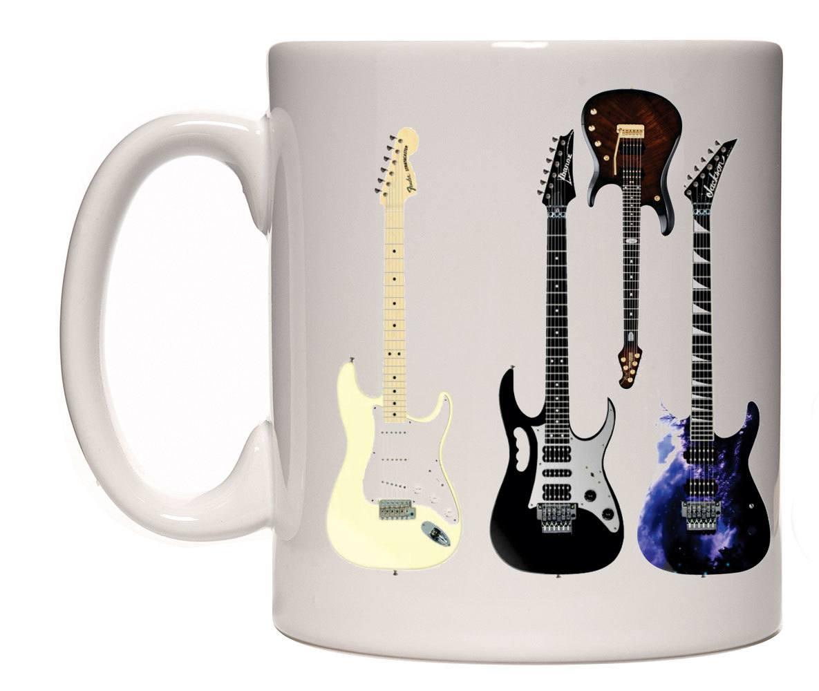 Caneca porcelana guitarras