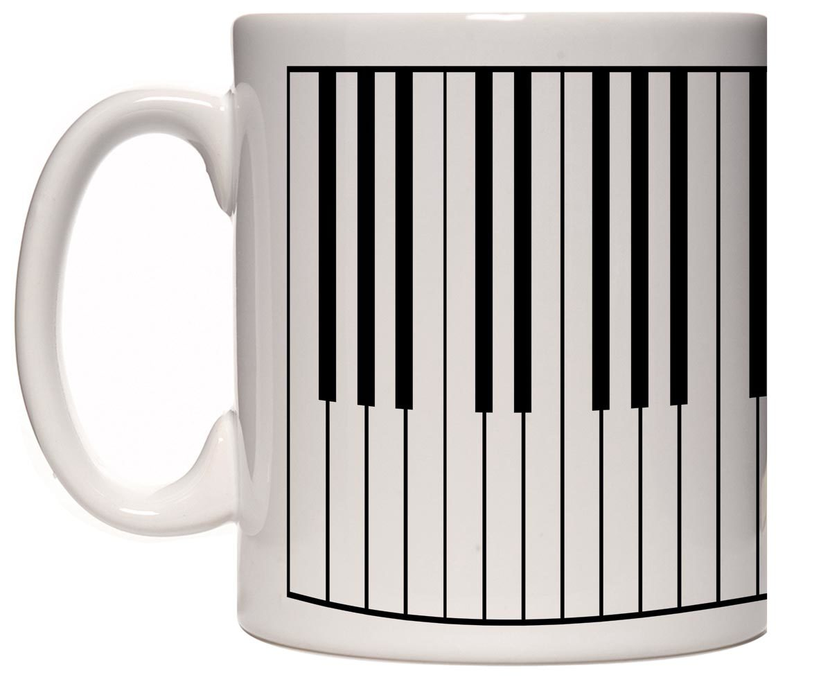 Caneca porcelana Teclas piano