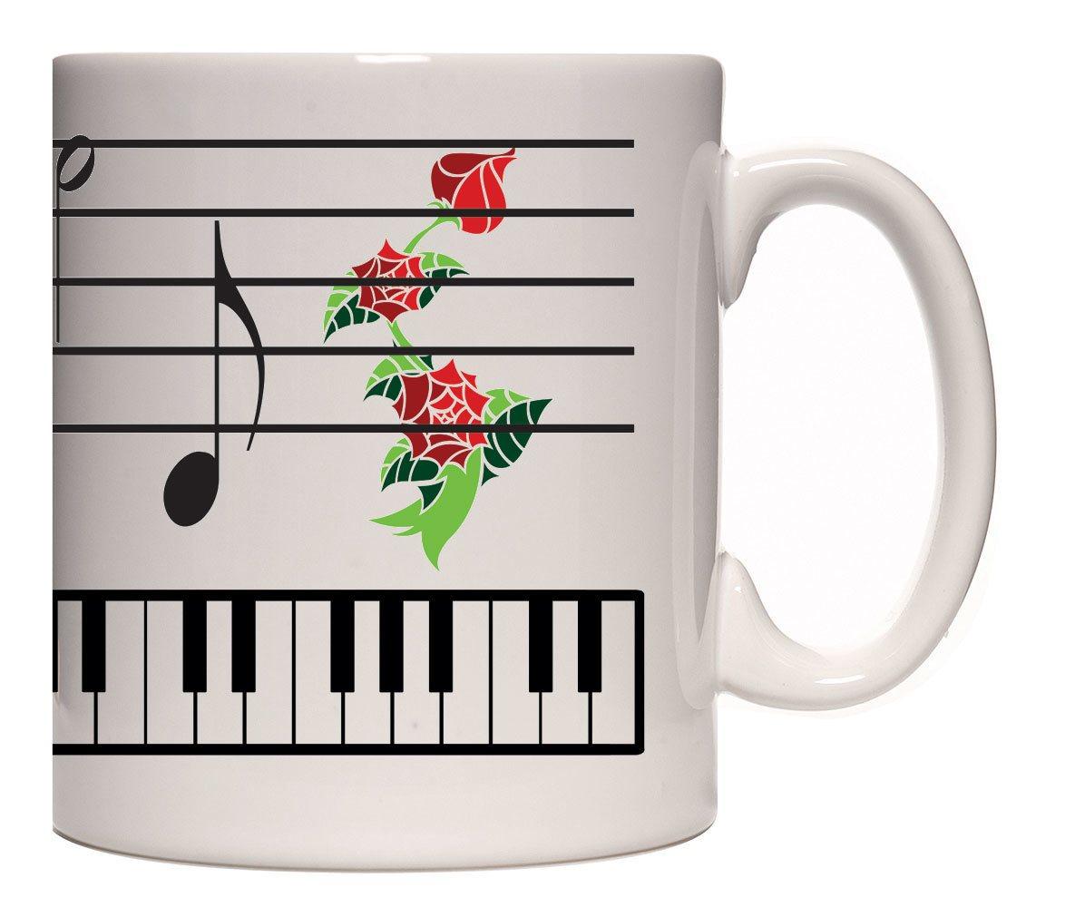 Caneca teclas piano
