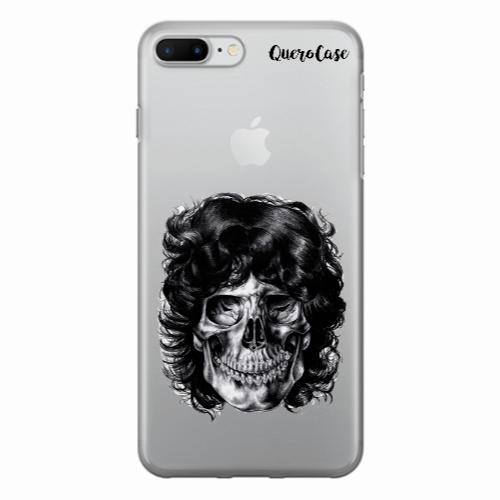 Capa de Celular Caveira Jim Morrison Transparente