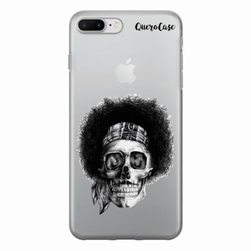 Capa de Celular Caveira Jimi Hendrix Transparente
