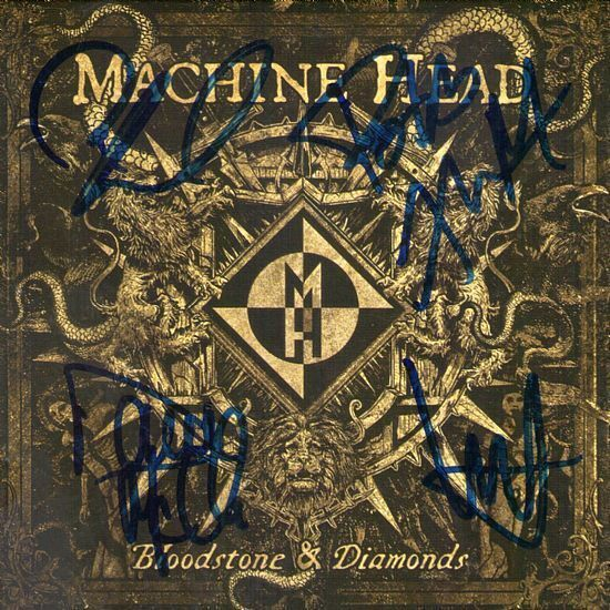CD – Machine Head – Bloodstone & Diamonds – Autografado