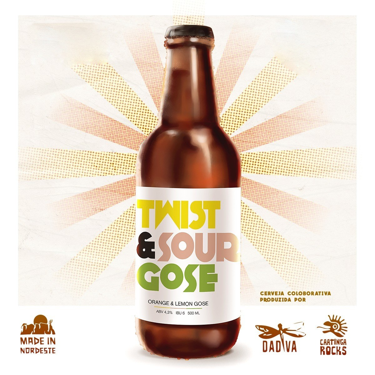 Cerveja Caatinga Rocks Twist & Sour 500ml