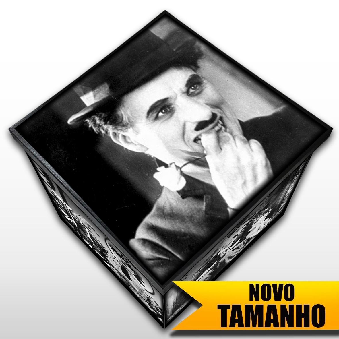Charles Chaplin - Caixa em MDF - Tam. Grande - Mr. Rock