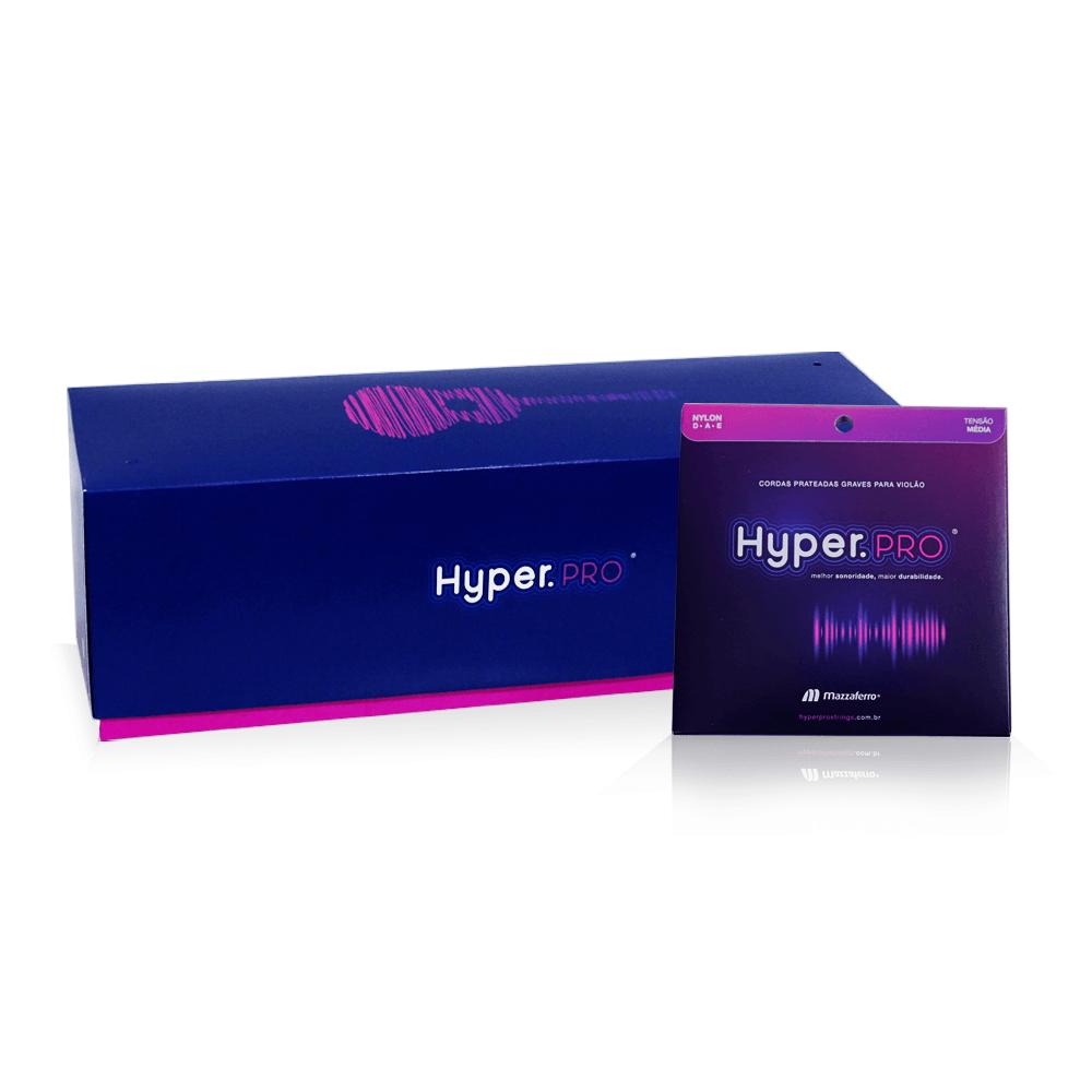 Hyper.PRO Mega com 32 kits graves de nylon média p/ violão