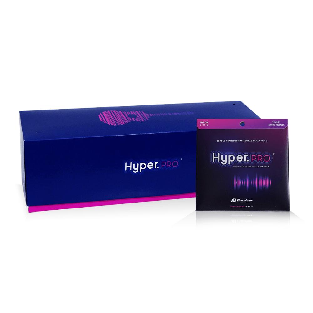 Hyper.PRO Mega com 32 kits agudas de nylon extra-pesada p/ violão