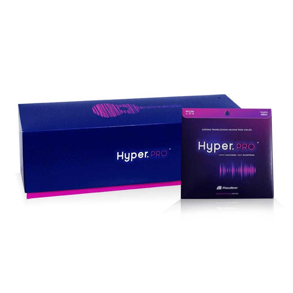 Hyper.PRO Mega com 32 kits agudas de nylon média p/ violão