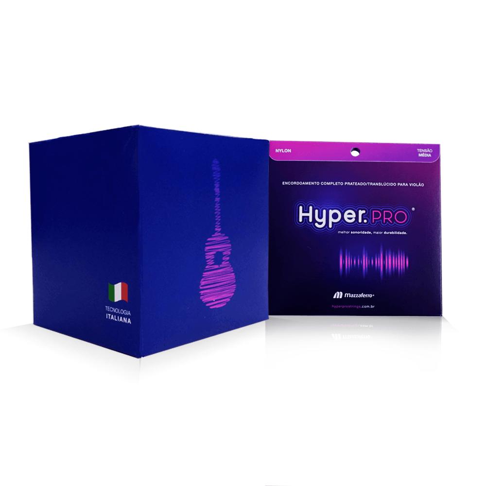 Hyper.PRO Super: 8 jogos de 6 Cordas para Violão Nylon com Tensão Média