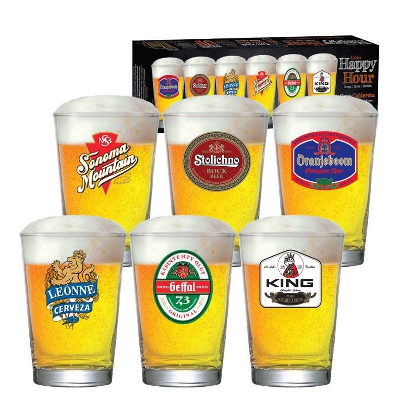 Copo de cerveja Happy Hour Caldereta - 06 peças