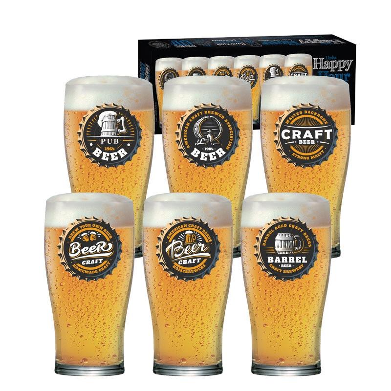 Copo de cerveja Pint Happy Hour - 06 peças