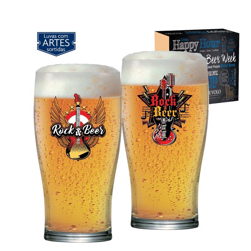 Copo de cerveja  Pint Rock Collection - 02 peças