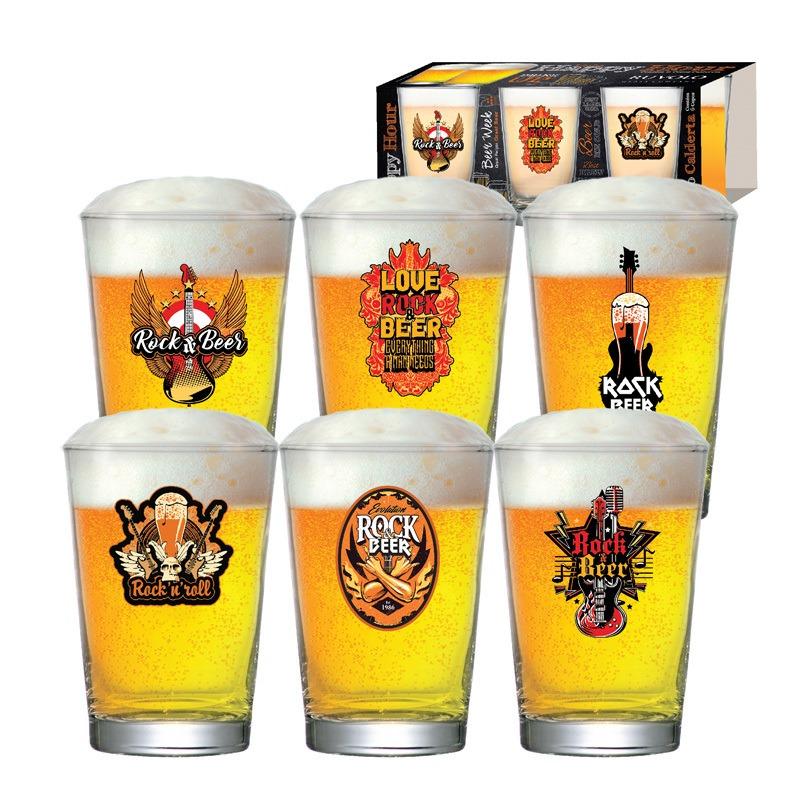 Copo de cerveja Rock Collection Calderata - 06 peças