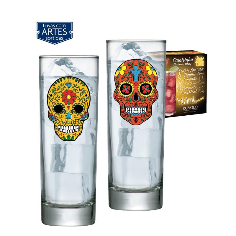 Copo Drink tubo Mexican Style - 02 peças