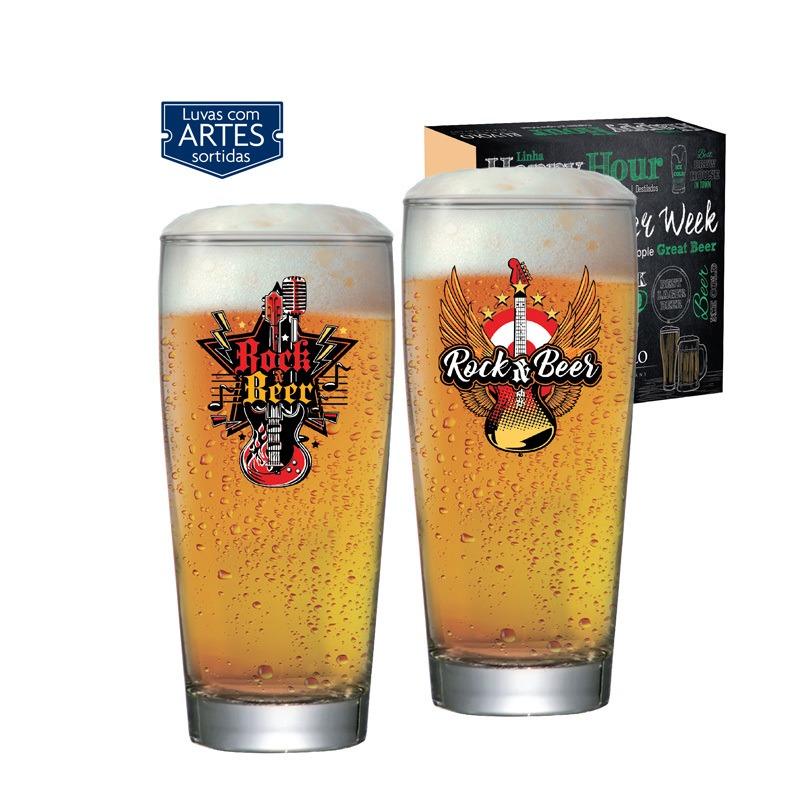 Copo de cerveja Rock Collection Prime - 02 peças