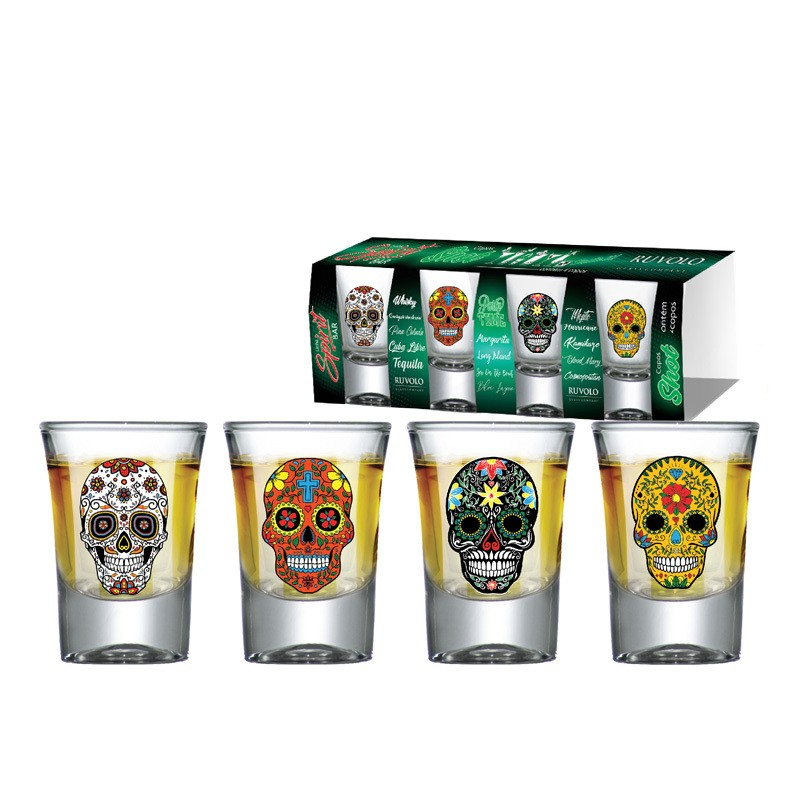 Copo Shot Mexican Style - 04 peças