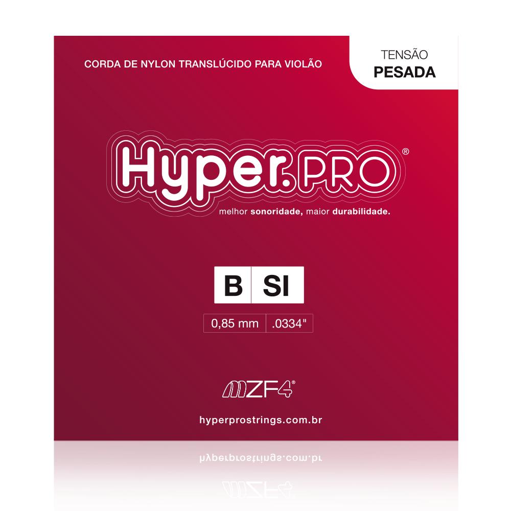 Hyper.PRO corda avulsa 2ª B/Si Violão Nylon Tensão Pesada