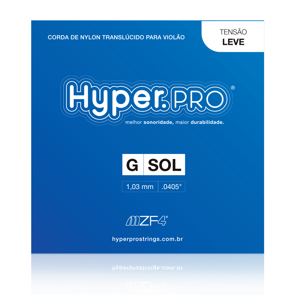 Hyper.PRO corda avulsa 3ª G/Sol Violão Nylon Tensão Leve