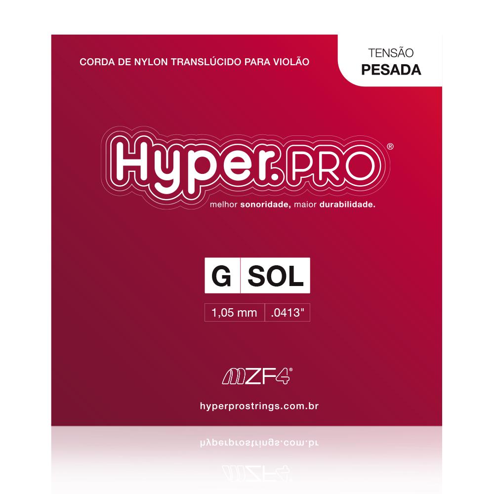 Hyper.PRO corda avulsa 3ª G/Sol Violão Nylon Tensão Pesada