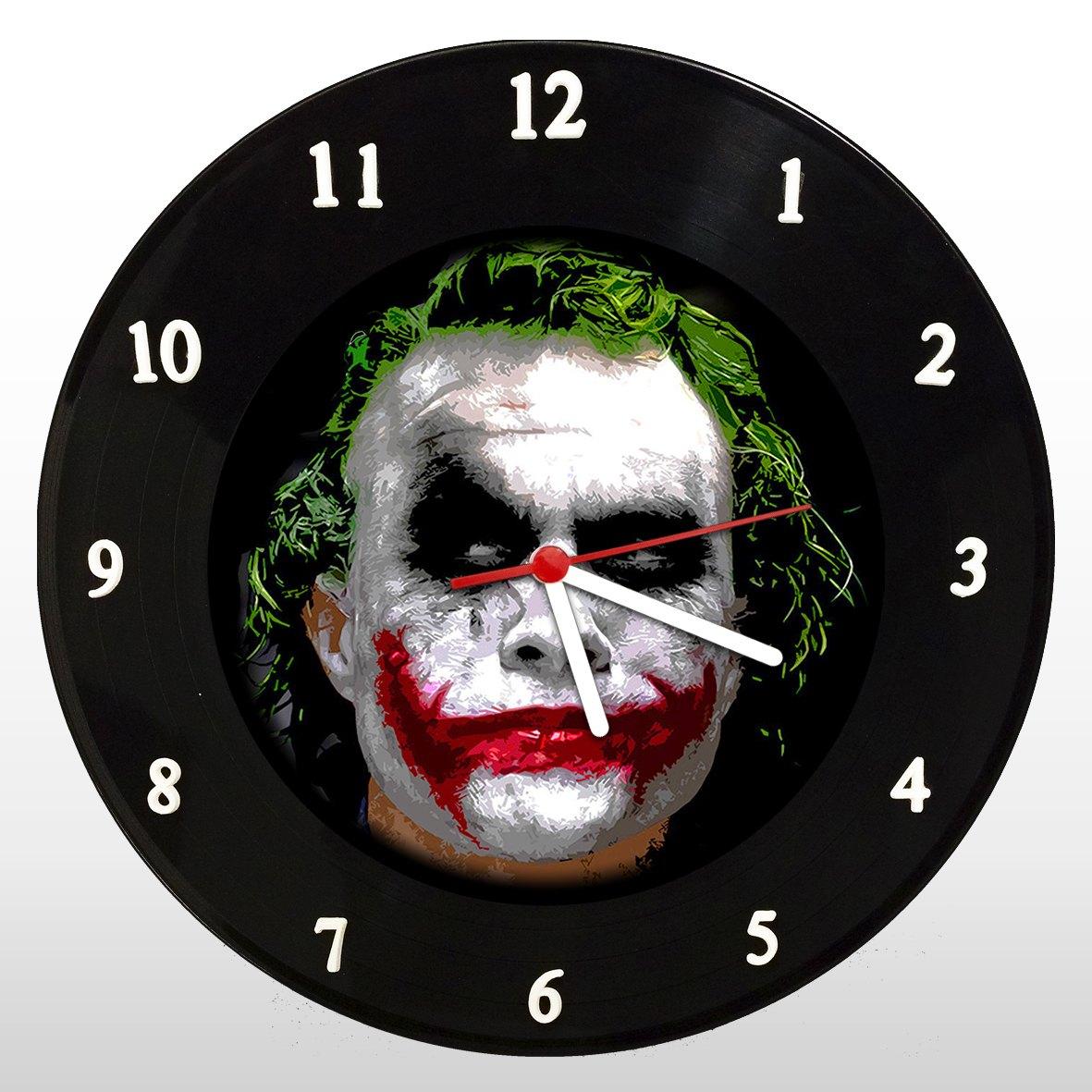 Coringa - Heath Ledger - Relógio de Parede em Disco de Vinil - Mr. Rock