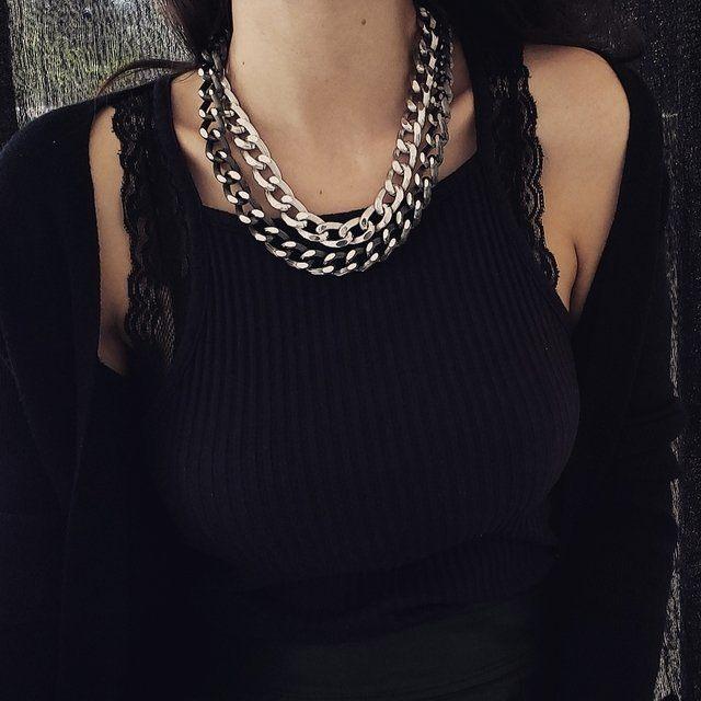 Corrente Elos Diamantados - Rock Femme Acessórios