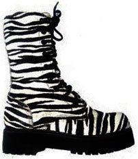 Coturno Millennium Couros Cano Baixo Estampada Zebra