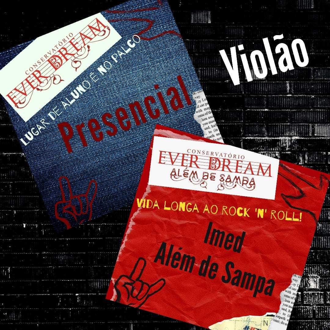 Curso de Violão - Presencial ou On-line com duração 6 meses - Conservatório Ever Dream